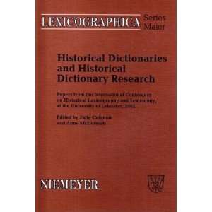 and Historical Dictionary Research: Papers from the International