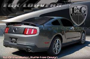 2005 2012 FORD MUSTANG BLK ABS REAR WINDOW LOUVERS E&G