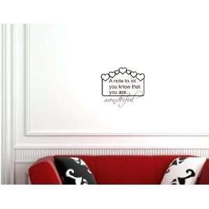 are wonderful Wall Art Vinyl Lettering Decal Sticker