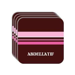 Personal Name Gift   ABDELLATIF Set of 4 Mini Mousepad