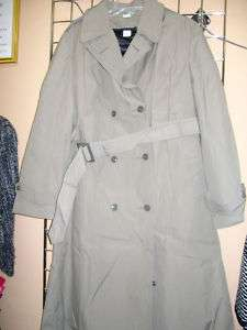 Womens Military Trench Coat Size 22L Olive NWOT$89 ex large