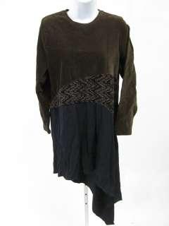 DONNA JESSICA Brown Black Corduroy Dress Sz 1