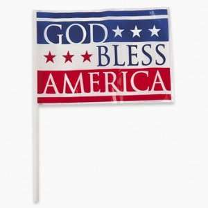 God Bless America Mini Flags   Party Decorations & Flags