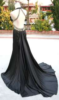 NWT JOVANI $580 black Women Formal Pageant Ball Gown 18