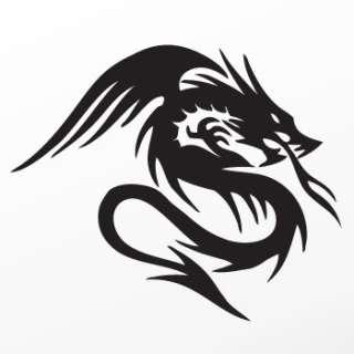 Tribal tattoo design Decal Sticker Dragon Art WRS35