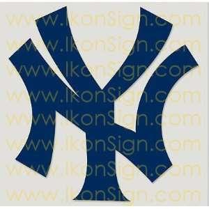 New York Yankees 6 BLUE Vinyl Decal Sticker by IKON SIGN Automotive