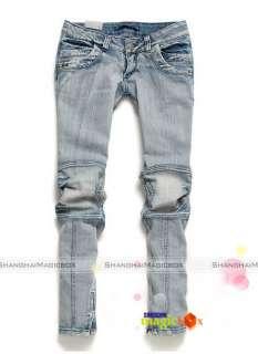 New Women Fashion Low Rise Slim Skinny Blue Jeans Trousers Pants