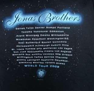Jonas Brothers 2009 World Tour T Shirt   Size M