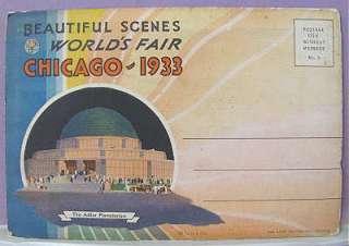 Century Progress1933 CHICAGO WORLD FAIR Horoscope POSTCARD Packet Ohio