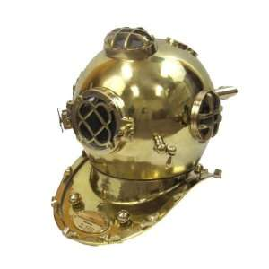 Solid Brass U.S. Navy Mark V Diving Helmet