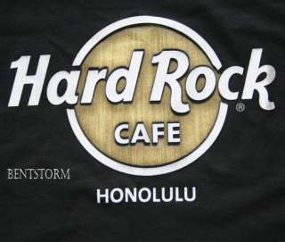 HARD ROCK CAFE HONOLULU HAWAII BLACK T SHIRT TEE Classic LOGO Mens