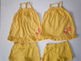 TWIN GIRLS 3 3T MATCHING SUMMER OUTFITS CLOTHES LOT