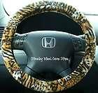 Car Steering Wheel Cover Soft Cheetah Animal Print NEW