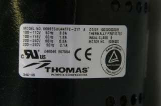 Thomas 669 WOB L Piston Vacuum Pump