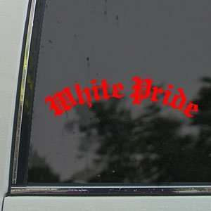 White Pride Red Decal Car Truck Bumper Window Red Sticker