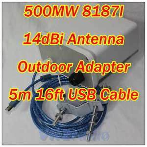 Newly! 41dBm Wireless Outdoor USB Adapter Antenna CPE