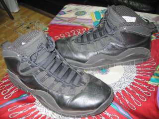 AUTHENTIC Nike Air Jordan Retro 10 X (2005) Black / White   Mens SZ 8
