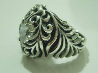 925 STERLING SILVER HEART RING SIZE 1O.5 *NEW* C Z.
