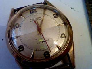 VINTAGE 10KT GOLD FILLED GRUEN AUTOMATIC WATCH 4U2FIX