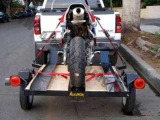 Single Bike Rail FLATBED Carrier 4x5 Motorcycle Trailer
