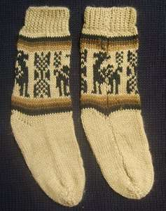 ALPACA WOOL SOCKS FOR CHILD KIDS 1 PAIR LIGHT BROWN (2   4 YEARS) WARM