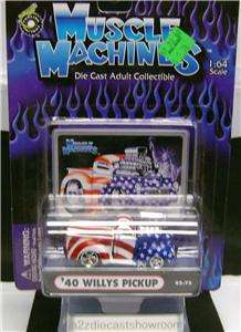 1940 WILLYS PICKUP TRUCK FUNLINE MUSCLE MACHINES DIECAST 164