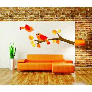 Removable Wall Decals   Two birds on a branch