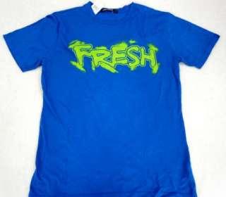 NWT Mens M   CONCRETE Blue T Shirt FRESH TEE Saks 5th