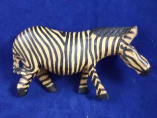 Vintage Carved Wood Wooden Wild Animal Figurine Statue 5.25