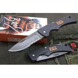 aus 8a 59hrc gerber bell survival knife & rescue knife & pocket knfie