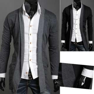 NWT Mens high quality slim stylish trench coat #M~XL