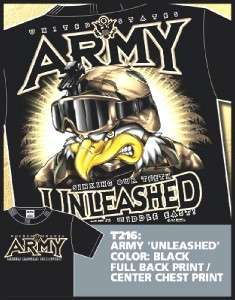 US ARMY SPECIAL FORCES UNLEASHED MILITARY T SHIRT XXL