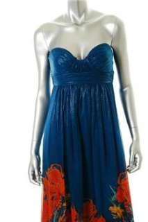 Aqua NEW Blue Formal Dress BHFO Ruched 2