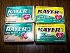BAYER Aspirin BABY ASPIRIN Low Dose 192 Tablets LOT 6 32 Count Boxes