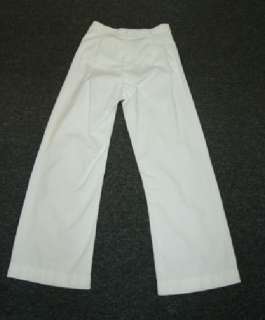 Vintage 1920s Mens White Button Fly Pants Jeans