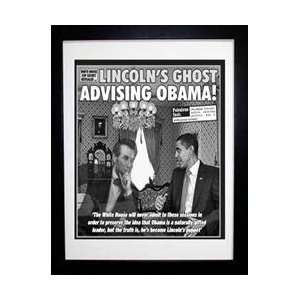 News Framed Cover   Lincolns Ghost Advising Obama! Weekly World News