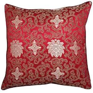 Magenta Cushion Cover / Pillow Sham   Chinese Lotus Flower Design