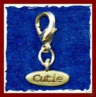 New CUTIE Cat Dog Pet Jewelry Collar Charm Tag