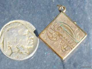 ANTIQUE VICTORIAN GOLD FILLED CHANTELAINE OR WATCH FOB LOCKET PENDANT