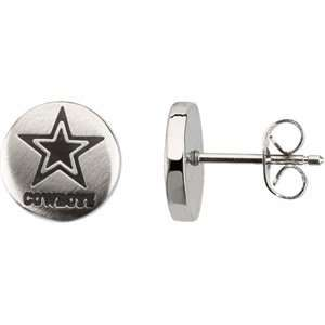 Womens Stainless Steel Dallas Cowboys NFL Football Team Logo Round