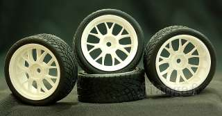 4x 1/10 ON ROAD RC CAR Wheel, Rim & Tyre,Tire #KH543