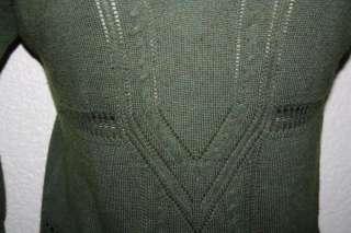 Sweater Green XSmall CASHMERE Soy Bean Top Shirt jacket dress