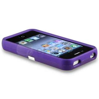 on Hard Case Cover w/ Chrome Stand For iPhone 4 G 4S Pink+Purple+Blue