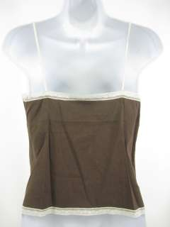 you are bidding on a theory brown v neck tank shirt top in a size