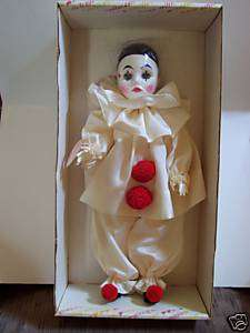AWESOME EFFANBEE PIERROT CLOWN DOLL 17 COLLECTIBLE Cir 1980 Stamped