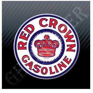 Gasoline gas Fuel Pump Station Vintage Sticker Decal