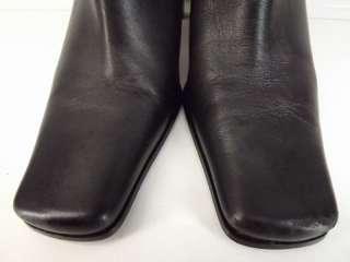 Womens boots black leather dress Westies 7 M heels zip