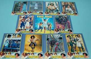 THE WIZ MOVIE MICHAEL JACKSON DIANE ROSS MINI CARD SET ARGENTINA # 2