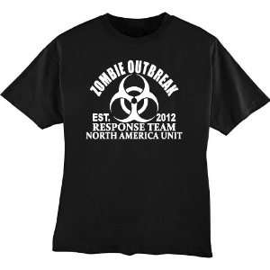 Zombie Outbreak Response Team Funny T shirt X Large by