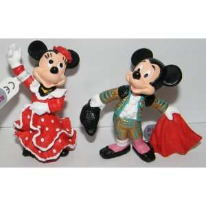 Mickey Mouse Bull Fighter and Minnie Mouse Flamenco Dancer Figure Set